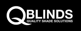 QBlinds - Quality Shade Solutions Logo on black background